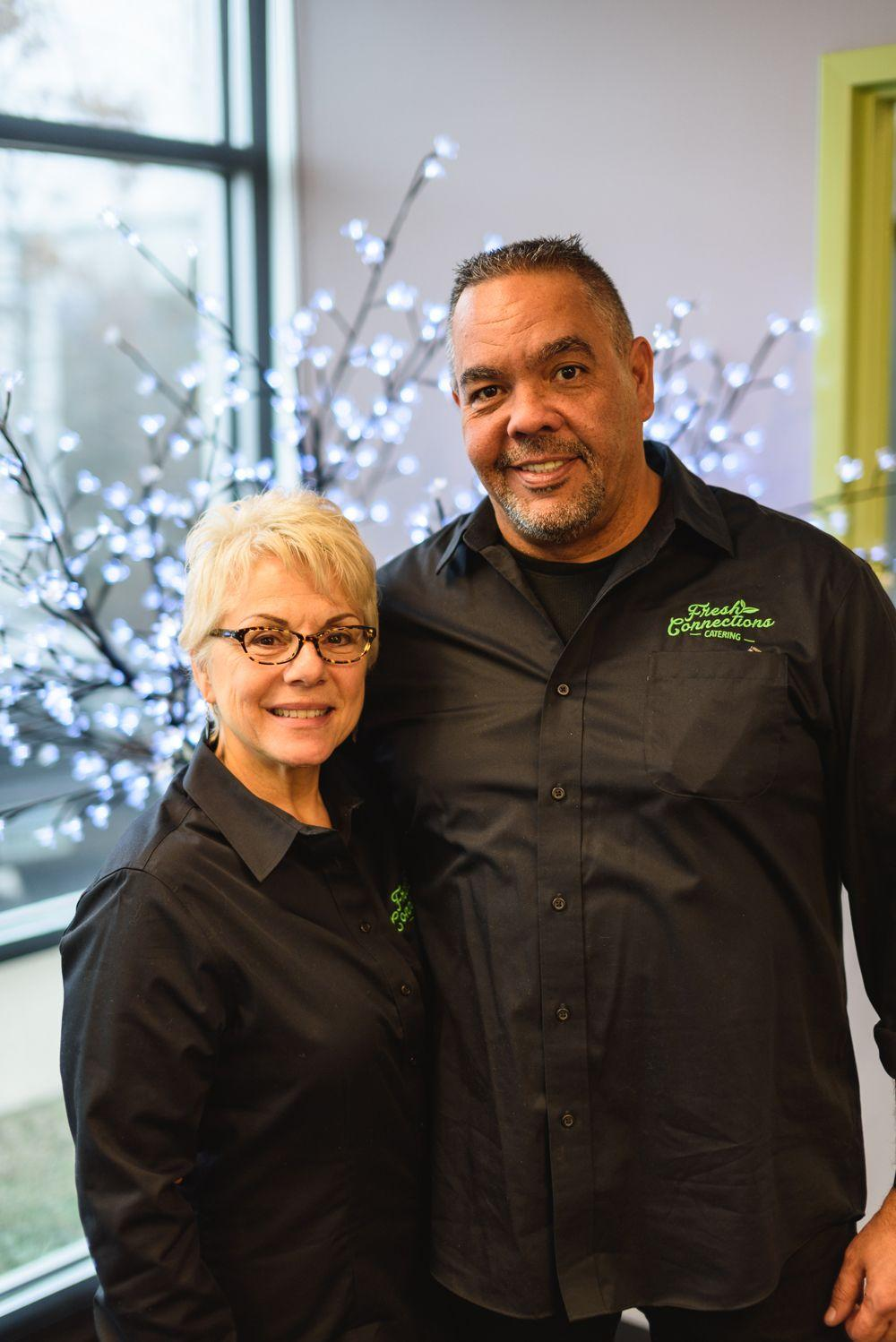 The owners of Fresh Connections Catering providing corporate catering services to Chantilly VA